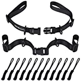 Wisdompro 2 Pack Backpack Chest Straps, Heavy Duty Adjustable Backpack Sternum Strap Belt with Quick Release Buckle and 12 Pcs Zipper Pulls for Hiking and Jogging