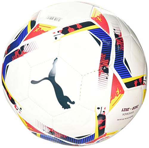PUMA LaLiga 1 Accelerate Mini Ball Balón de Fútbol, Unisex-Adult, White-Multi Colour