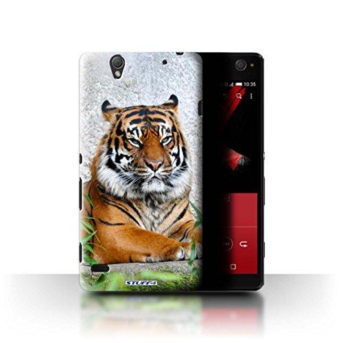 Hülle Für Sony Xperia C4 Wilde Tiere Tiger Design Transparent Ultra Dünn Klar Hart Schutz Handyhülle Hülle