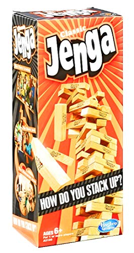 Hasbro Jenga Classic   Block Stacking Game for 1 or More Players