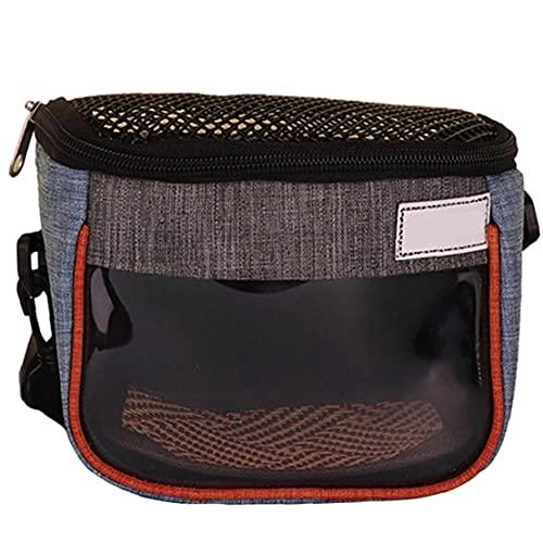 La bolsa portadora de Pequeños Animales, Hámster Pet Carrier mochilas bolsa con correa de malla transparente ventana hombro portátil para erizo, rata, hámster, conejillo de Indias de, hurón,