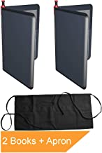 Server Book Fits Guest Check Apron and Waitress Wallet, Black Restaurant Serving Organizer for Waiter