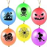 HOWAF Globos de Halloween para niños, Juego de Truco o Trato, 36 Piezas Calabaza cráneo Fantasma Globos de ponche de Halloween Decoraciónes Casa, Halloween Regalos para niños