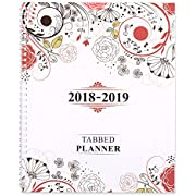 """Shiplies August 2018 - June 2019 Daily, Weekly and Monthly Tabbed Planner Academic Planner Personal Organizer for Men, Women, Teachers and Student 8.5"""" x 11"""" with Note Pages"""