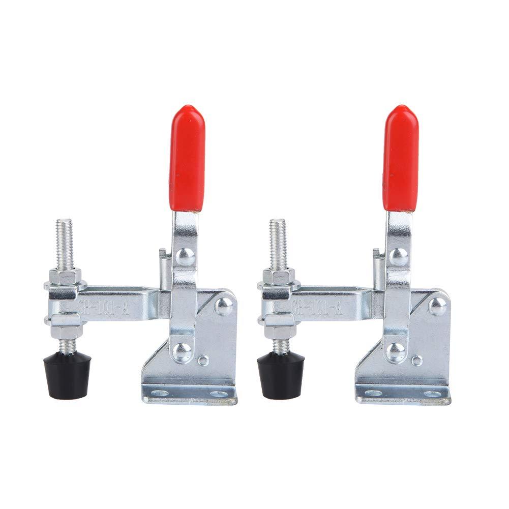 Clamp Hand Tool, Mini Iron Galvanized 2Pcs Toggle Clamp Set for
