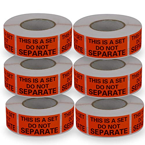 6 Rolls/3000 Labels,This is a Set Do Not Separate,Fluorescent Red FBA Packing Labels(1' x 2')