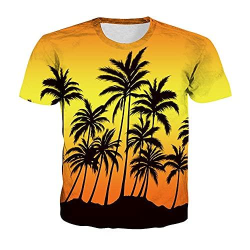 Camiseta Hombre Impresión 3D Novedad Creativa Patrón Único Cuello Redondo Manga Corta Moda De Verano Casual Suelta Cómoda Personalidad Hombres Camisa Deportiva TD03 XXS