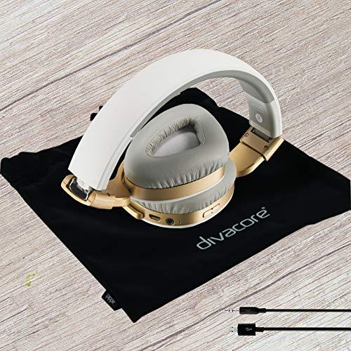 Divacore Addict, Casque sans fil 30H aptX HD NFC, Blanc/Or