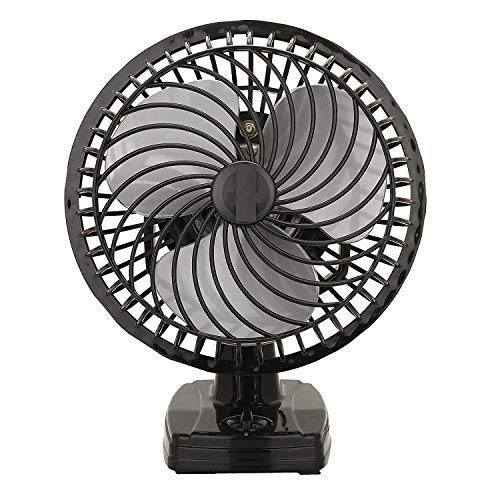 VARSHINE Happy Home Junior Air Wall Cum Table Fan with Powerful High 3 Speed Motor and Copper Winding, 6-inch/225mm(A-03, Black)