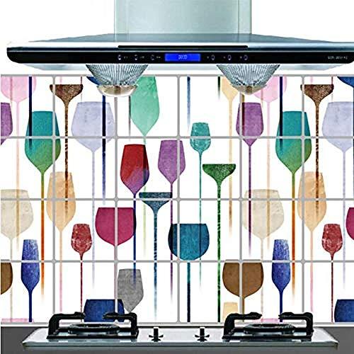 Weinglas Wandaufkleber Küche Bad Wandtattoo Tattoo Wandaufkleber Dekor 60X90cm