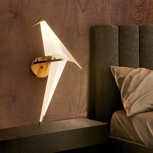ZHIRCEKE Moderna lámpara de Pared LED Elegante Diseño de Aves Creativo de la Pared Apliques de Papel de Origami Grúas de Papel Acrílico Metal Bastable Interior