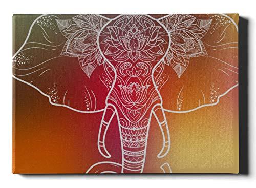 Líneas únicas de pintura de pared Maquillaje Elefante Decoración de dormitorio Arte de pared 12 x 16 pulgadas (30x40 cm) Arte decorativo de pared Obras de arte de pared Imágenes para colgar en