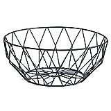 Starter Corbeille Simple de Panier de Fruit de Fruit de Salon de Famille de Panier de Stockage de Fer, 27.5×9cm(Noir)