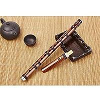 XAZTY フルート、クラリネット洗練された6穴、成人した子供に適した苦い尺八、フルート初心者Fチューニング楽器、フルート (Color : Brown-F)