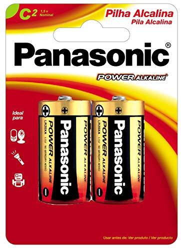PANASONIC, LR14XAB/2B, Pilha Alcalina C (média), 1.5V, cartela c/02 unidades