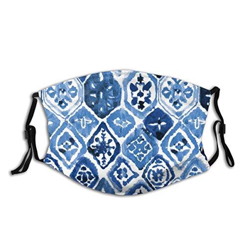 Unisex Mehrzweck-Gesichtsabdeckung, Arabesque Fliesen-Kunst, wiederverwendbare Stoffmaske, Schutz, atmungsaktive Sturmhaube für heiße Sommer, Outdoor, Einkaufen, Sport