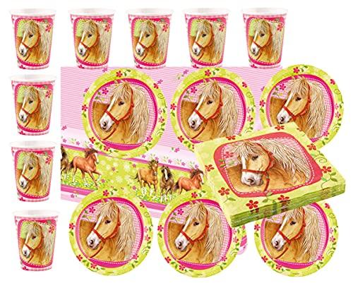 Libetui Juego de vajilla de 37 piezas, para fiestas de cumpleaños infantiles, platos, vasos, servilletas, mantel para hasta 8 personas