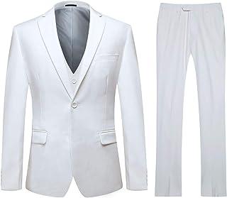 f31ec6b63de Trajes de Hombre Traje de Boda Slim Fit de 3 Piezas Elegante Blazer Chaleco  y Pantalones