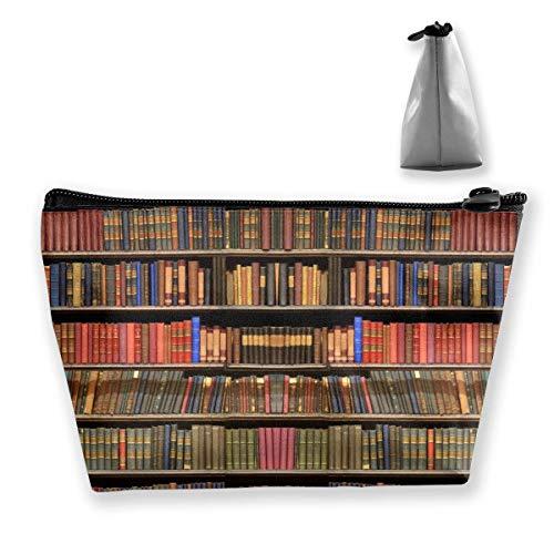 Libros Estantería Trapezoide Viaje Cosmético Bolsa de Almacenamiento Bolsa de Embrague