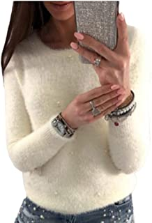 Women's Casual Crew Neck Oversized Sweater Long Sleeves Knit Pullover Jumper Tops
