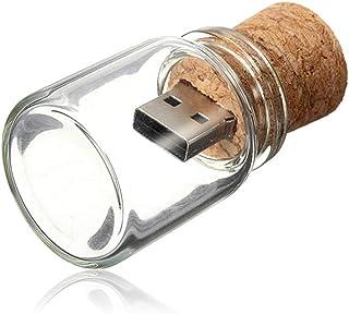 Kepmem USB Flash Drive 8/16/32/64GB 2.0 Cute Bottle Shape Wood Thumb Drive Wooden Memory Stick Cork USB Drive for Data Sto...