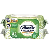 Cottonelle GentlePlus Flushable Wet Wipes, 2 Flip-Top Packs, 42 Wipes per Pack...