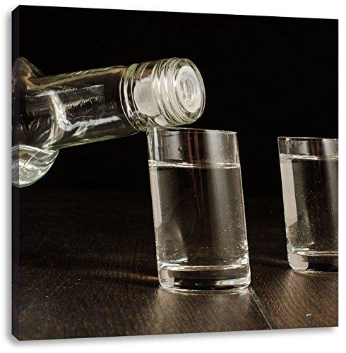 Wodka gegotenCanvas Foto Plein | Maat: 60x60 cm | Wanddecoraties | Kunstdruk | Volledig gemonteerd