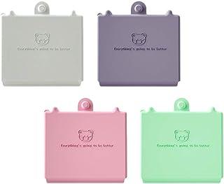 BESTOMZ 4ピースフェイスカバーボックスプラスチック収納ケースフェイスカバーコンテナポータブルボックスマウスマッフルホルダージュエリーフェイスカバー用(ランダムカラー)
