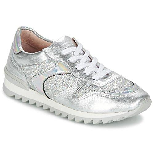 Unisa Dalton Zapatillas Moda Mujeres Plateado/Blanco - 32 - Zapatillas Bajas Shoes