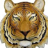 Mur monté 16 Pouces tête de Tigre Sculpture Art Mural - Peint à la Main Support Mural - Buste de Chat de la Jungle - DWK-HD17846 décor