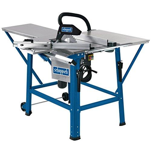 scheppach Tischkreissäge TS310 - 2200 W | Sägeblatt- Ø315mm | Schnitthöhe 83 mm | inkl. Tischverbreiterung, 2. Sägeblatt, Führungsschiene und Schiebeschlitten | schwenkbar bis 45°
