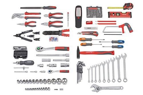 Meister Werkzeugtrolley 156-teilig ✓ Werkzeug-Set ✓ Mit Rollen ✓ Teleskophandgriff | Profi Werkzeugkoffer befüllt | Werkzeugkiste fahrbar auf Rollen | Werkzeugbox komplett mit Werkzeug | 8971440 - 15