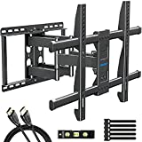 MOUNTUP TV Wall Mount, TV Mount Swivel and Tilt Full Motion for 42-70 Inch Flat Screen TVs, Universal Articulating Wall Mount TV Bracket with Max VESA 600x400mm, Holds up to 100lbs, Fits 12' 16' Studs