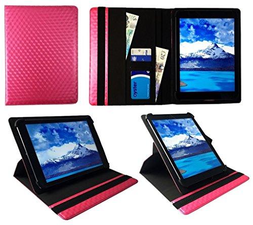 One Tablet Xcellent 10 Windows Rosa 3D Cube Universal 360 Grad Drehung PU Leder Tasche Schutzhülle Case ( 9 - 10 Zoll ) von Sweet Tech