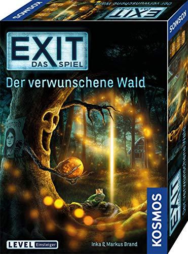 KOSMOS 695149 EXIT- Das Spiel - Der verwunschene Wald, Level: Einsteiger, Escape Room Spiel, für 1 bis 4 Spieler ab 10 Jahre, einmaliges Event-Spiel, spannendes Gesellschaftsspiel