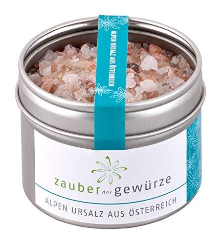 Zauber der Gewürze - naturbelassenes und aromatisches Alpen-Ursalz aus Österreich, 135g - grob, ideal für die Mühle