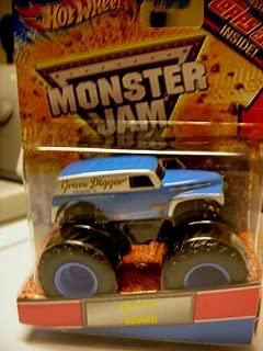 Hot Wheels 2012 Monster Jam Grave Digger Old School w/Topps Card