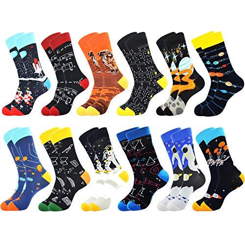 Belloxis 12 Pairs of Bunte Socken Herren Lustige Witzige Coole Baumwoll Motiv Socken Verrückt Geschenke