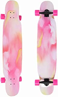 """OFFA Skateboards 46""""x10"""" Longboard, Longboards Longboards for Cruising, Free Style, Downhill and Dancing, Longboard Skateboard for Teens Adults Beginners Girls (Color : C)"""