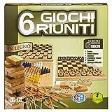 Raccolta giochi classici in legno 6 in 1