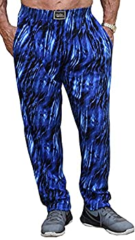 Classic Super Soft Blue Tide Design Relaxed Fit Baggy Workout Pants for Men and Women