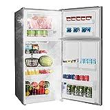 SMETA 18 Cu.Ft Top Mount Refrigerator, Top Freezer Refrigerator, 30' Garage Ready Refrigerator, Double Door Frost Free Fridge with 4.1 Cu.Ft Freezer, Full Size Refrigerator, Stainless Steel