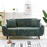 WXQY Funda de sofá elástica Estampada, reclinable de protección Completa, Funda de sofá Antideslizante de Estilo Floral nórdico, Funda de sofá A3, 3 plazas