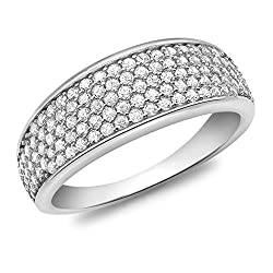 Elegantly crafted from highest quality 9ct white gold for luxurious shine and feel The Carissima Gold Collection is inspired from the romance of Italy The pieces reflect Italian tradition of classic design and precise craftsmanship to create special ...