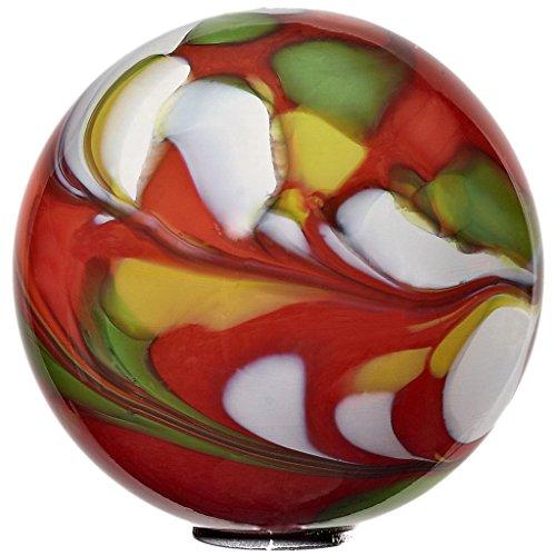 CRISTALICA Boule de Jardin avec bâton 15cm Rouge
