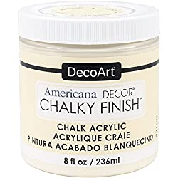DecoArt Chalky Finish chalk paint in color Whisper