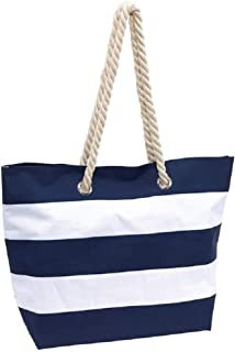 Wäschesack Strandtasche Freizeittasche Tasche Recycling Groß in Weiß Blau
