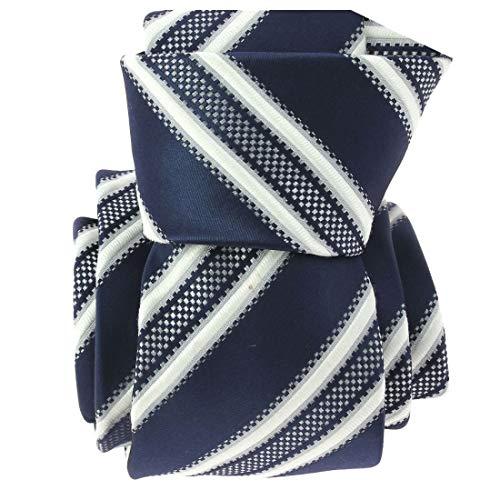 Clj Charles Le Jeune. Cravate. Yacht, Microfibre. Bleu, Club/rayé.