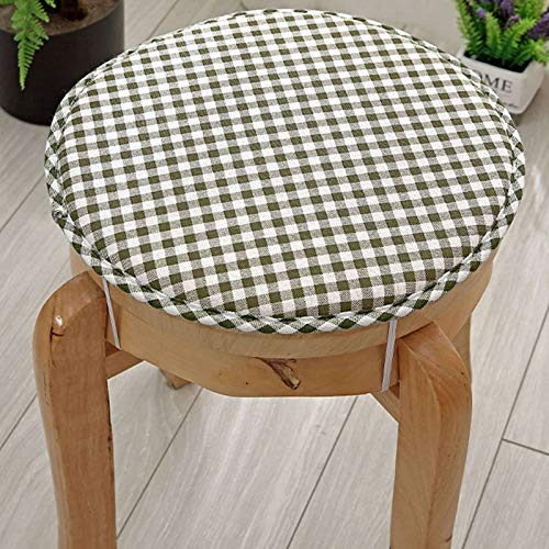 GOPG Cotton and Linen Cushion, Memory Foam Soft and Non-Slip Comfortable Breathable Washable Seat Cushion Chair Cushion for Living Room Kitchen Bedroom School-35x35cm(14x14inch)-E