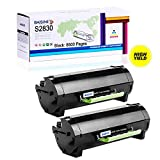 BAISINE 2 Pack Compatible Dell S2830 High Yield Laser Toner Cartridge Replacement for Dell S2830 S2830dn 2830dn 2830 dn Printer Ink - 8,500 Pages (2 Black)